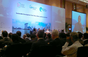 Plenary session Singapore International Water Week 2012 SIWW