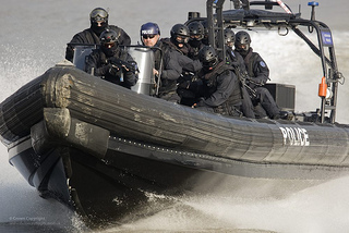 Thames River Police Boarding Teams in Olympics Security Exercise, London