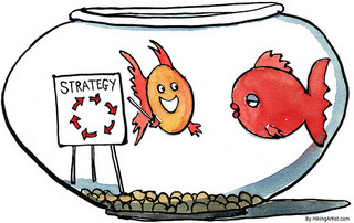Strategic thinking in a fishbowl