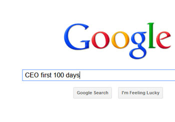 search for ceo first 100 days