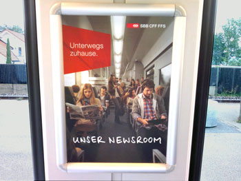 Our newsroom Swiss National Railway advert