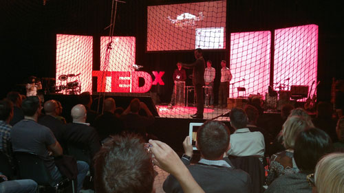 flying robot at tedx zurich