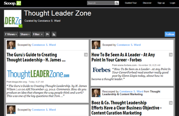 Thought Leader Zone page on ScoopIt
