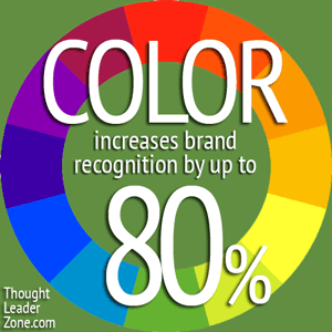 color increases brand recognition by up to 80%