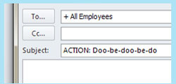 email subject lines remember doo be doo be doo
