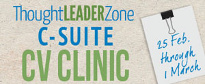 c-suite cv clinic at thought leader zone