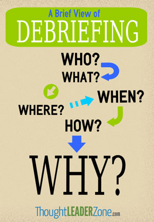 flow chart for debriefing session