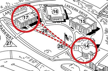 maps shows sidewalks following students natural paths