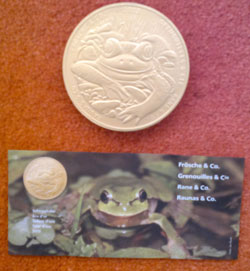 chocolate frog coin supporting wildlife charity