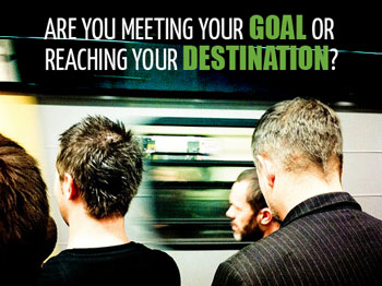 train passengers are you meeting your goal or reaching your destination